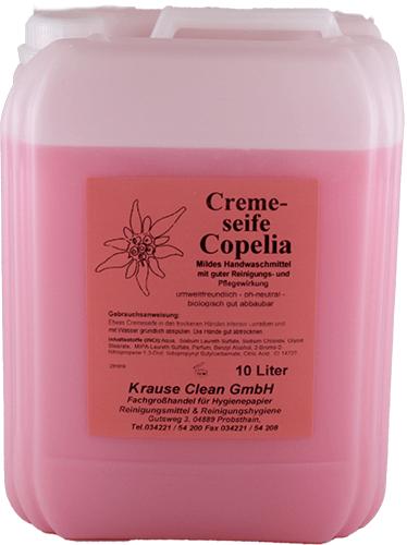 Seifencreme-Copelia -10 Liter-Kanister-Spenderseife-Farbe rosa-Handwaschlotion