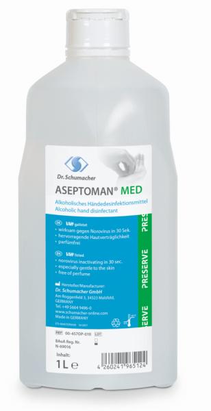 Aseptoman Med 1 Liter Alkoholisches Händedesinfektionsm. rückfettend,