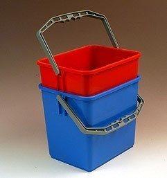 Fahrwagen Eimer viereckig 6 Liter blau