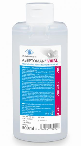 Aseptoman Viral 500 ml Spenderflasche voll viruzid A/B Listung