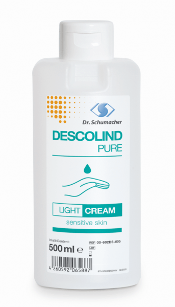 Descolind Pure Light Cream 500ml Spenderflasche parfümfreie Hände u. Hautpflege nach der Arbeit