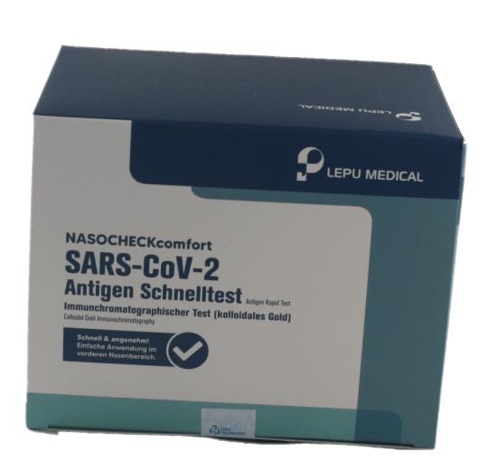 Selbsttest LEPU Medical SARS-CoV-2 Antigen Nasocheck comfort 4,50 Test