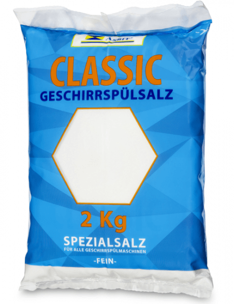 Geschirrspülsalz Spezialsalz für alle Geschirrspülmaschinen fein 2 kg Beutel