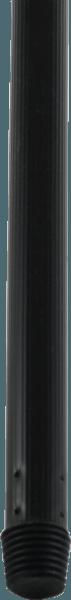 Metallbesenstiel schwarz für Besen, Schrubber mit Gewinde