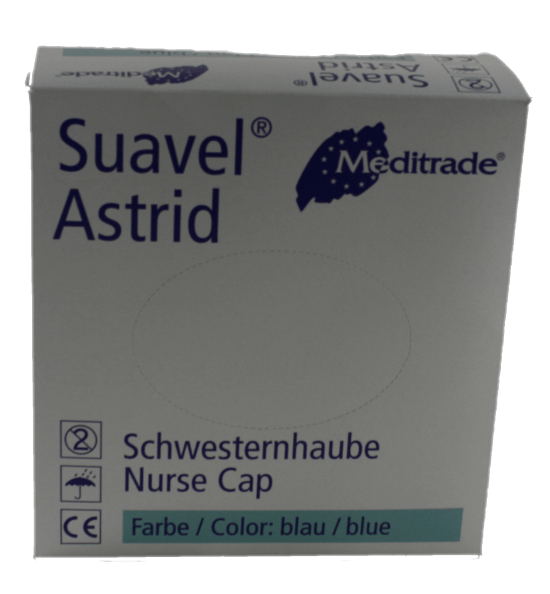 Einweg-Schutzhaube Schwestenhaubel Baretthaube blau VE 100 Stück