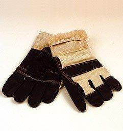 Winterhandschuh (Möbelleder mit Teddyfutter, Stulpe)