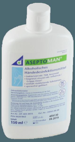 Aseptoman Händedesinfektion 150 ml Kittelflasche