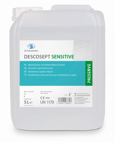 Dr. Schumacher Descosept Sensitive 5 Liter Alkoholisches Schnelldesinfektionsmittel gebrauchsfertig