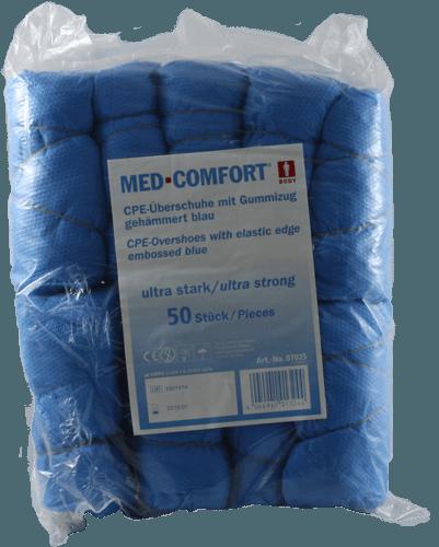 Einwegüberschuhe CPE blau Ultra Strak 50 Stück