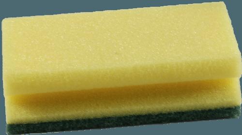 Reinigungsschwamm gelb-grün 15 x 9 cm