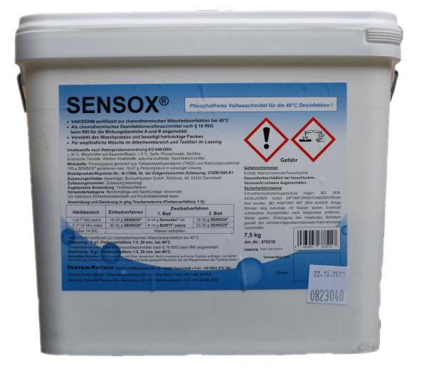 SENSOX® phosphatfreie Vollwaschmittel Desifektionsmittelzusatz 7,5 kg Eimer