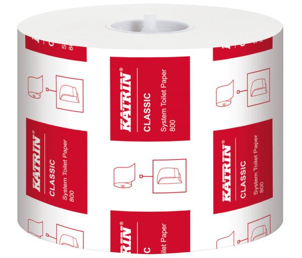 KATRIN System Toilettenpapier 2-lg. weiß VE 36 Rollen im Pack 800 Blatt Rolle Nr.15600