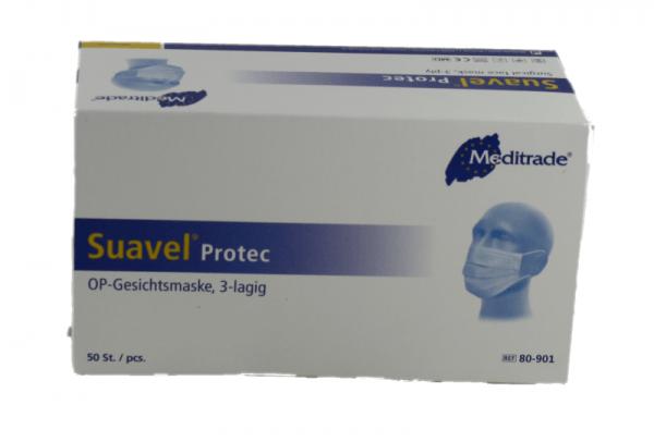 OP-GesichtsmaskeMundschutz - Nasenschutz Einweg 3 lagig blau 100 Stück OP-Maske Mundschutz 3 lagig blau