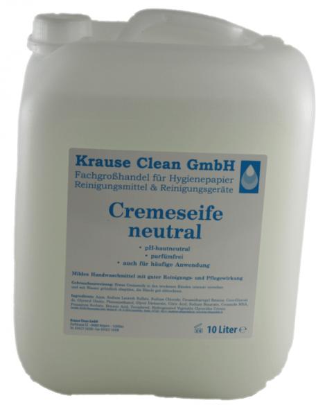 Cremeseife Seifencreme Neutral Parfümfreie für Druckspender 10 Liter Kanister