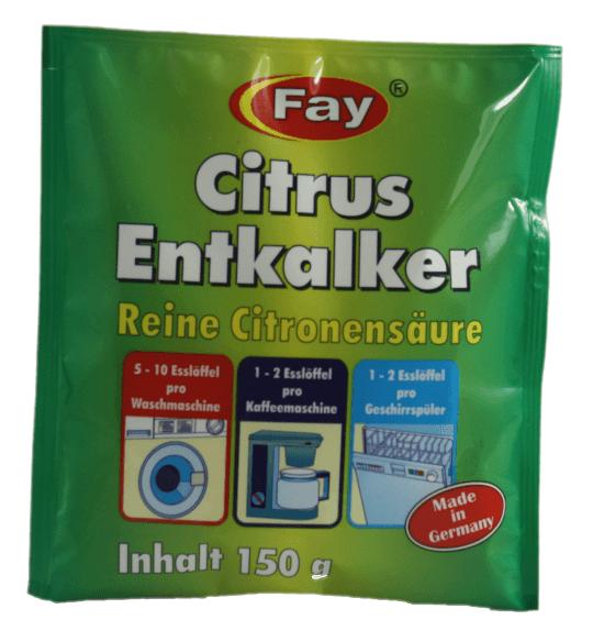 Fay Citrus Entkalker Reine Citronensäure 150 g Beutel