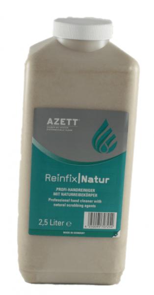 Azett-Reinfix-Natur-2,5-Liter-Hartflasche-Handreiniger-Handreinigungscreme-Handwaschpaste-fließfähig