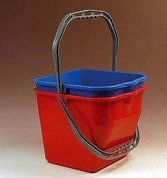 Fahrwagen Eimer viereckig 15 Liter blau