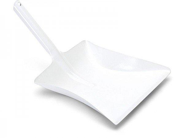 Kehrschaufel Metall 37 x 22 cm weiß