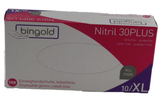Einweghandschuhe Nitril Bingold 30 Plus Größe XL 100 Stück/ Box