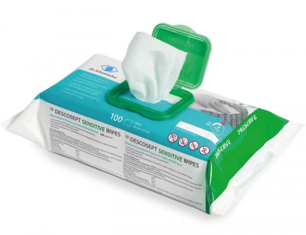 DESCOSEPT SENSITIVE WIPES gebrauchsfertige Desinfektionstücher Vliestuch 100 Stück