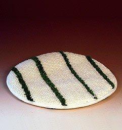 Garnpad- Queen- Bonnet 17 mit grünen Streifen