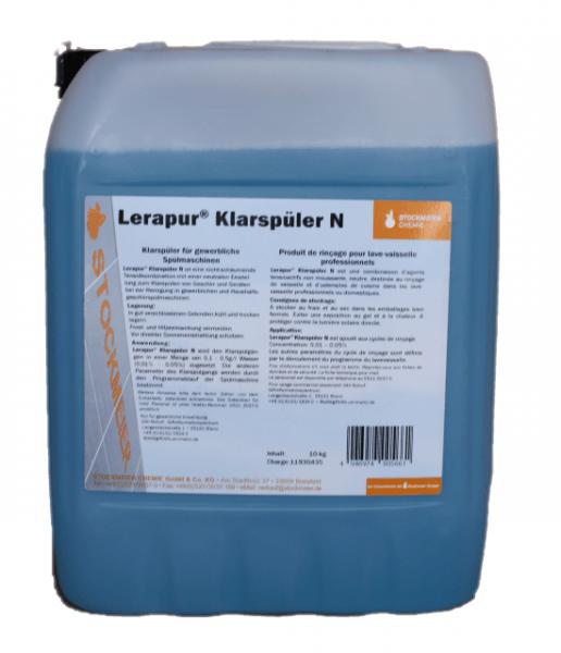 Klarspüler Lerapur Neutral 10 Liter für Spülmaschinen Kennzeichnungsfrei