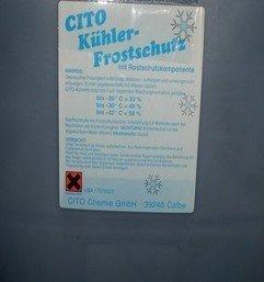 Kühlerfrostschutz Konzentrat 30 Liter