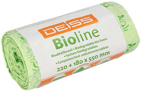 Bioline Deiss Bioabfallbeutel 10 Liter 24 Rollen a 20 Stück/ Karton