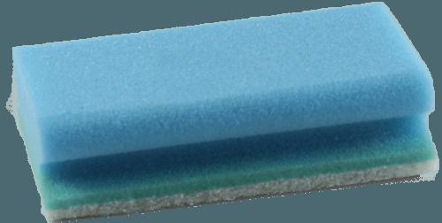 Reinigungsschwamm blau-weiß 15 x 9,5 cm