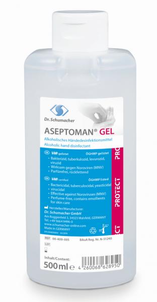 Dr. Schumacher Aseptoman Gel 500 ml Spenderflasche
