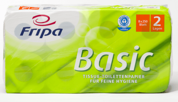 Fripa Basic Toilettenpapier 250 Blatt weiß Basic 64Rollen