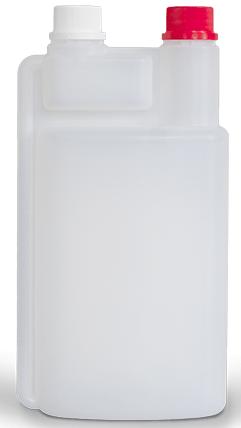 Dosierflasche mit 2-öffnung leer 1000ml Nachfüll-Flasche # 00-904-010 DESO MED