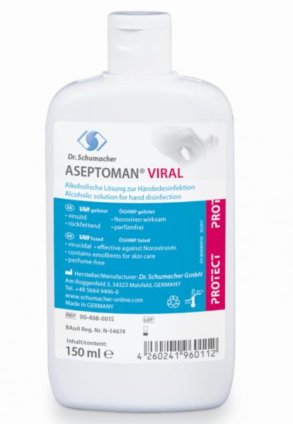 Aseptoman Viral 150ml Kittelflasche voll viruzid A/B Listung