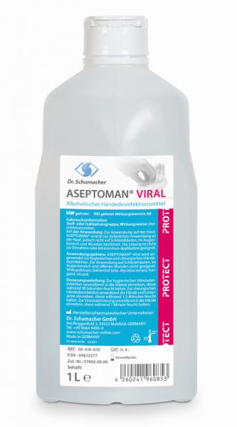 Aseptoman Viral 1 Liter Spenderflasche voll viruzid A/B Listung