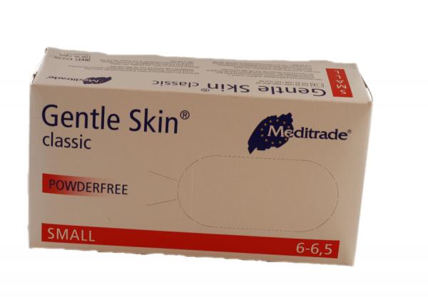 Einweghandschuhe Latex Classic Meditrade Größe S 100 Stück Box