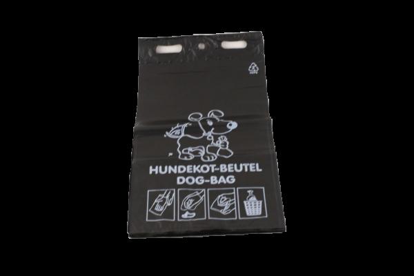 Hundekotbeutel HDPE schwarz 2000 Stück / Karton