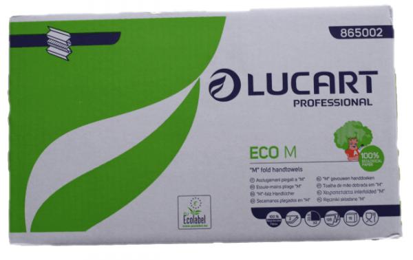 LU Papierhandtuch Eco M, weiß,2-lag.M Faltung,1875 Tücher/Karton, Tuch -B 22,5 x L 32 M- Faltung 8