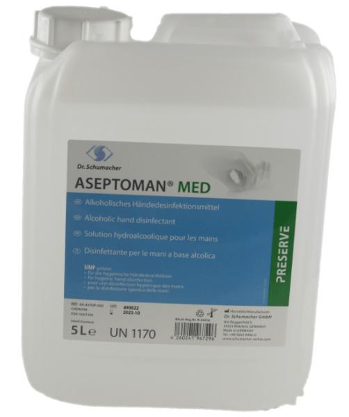 ASEPTOMAN® MED, Alkoholisches Händedesinfektionsmittel, Begrenzt viruzid PLUS 5 Liter Kanister