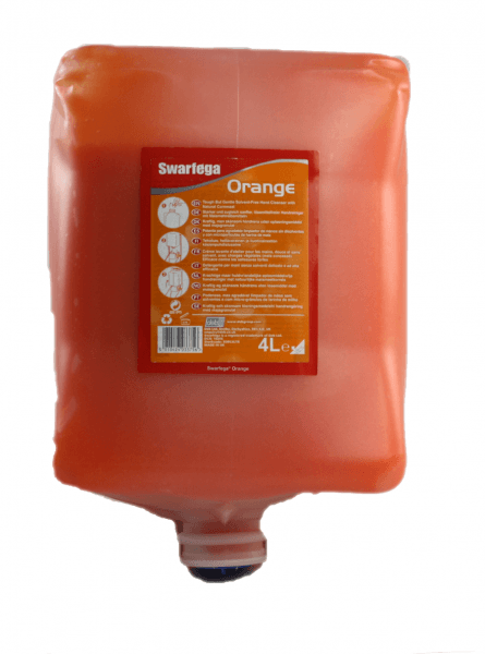 Deb Swarfeaga Orange 4 Liter Handreiniger Spenderfasche