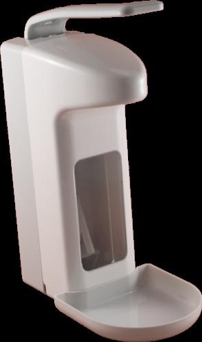 Temdex Desinfektionsspender Kunsstoff mit Armhebel 1000 ml u. Tropfschale